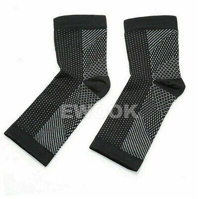 2 Pair Foot Sleeve Plantar Fasciitis Compression Socks Achy Swelling Heel Ankle 4