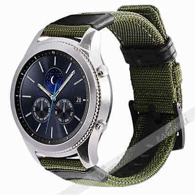 For Samsung Galaxy Watch Gear S3 SPORT 42 / 46mm Leather Nylon Watch Band Strap 9