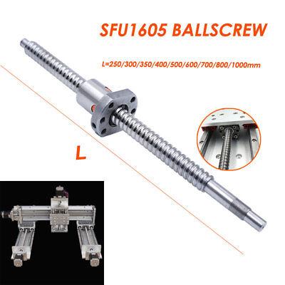 SFU1605 Rolled Ballscrew Ballnut Anti-Backlash 250-1500mm End Machining Coupler 2