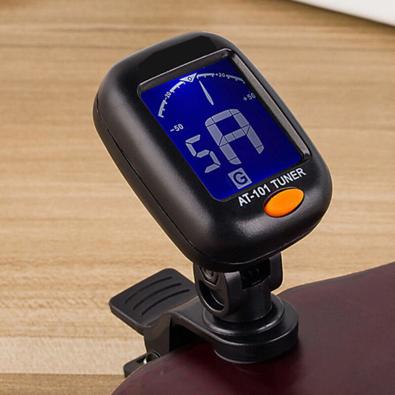 LCD Clip-on Electronic Digital Guitar Tuner for Chromatic Violin Ukulele Bass 4