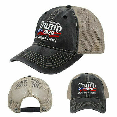 Trump 2020 MAGA Hat Keep Make America Great Again Mesh Embroidered Cap A+++ USA 11
