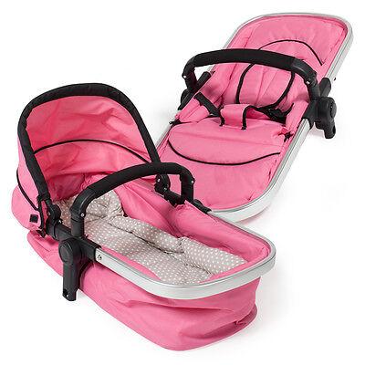 SILLA PASEO Cochecito de bebé Carrito para salir Sillita de viaje Cochecito rosa 6