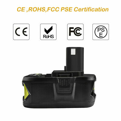 2 Pack 6.0Ah Lithium Battery For Ryobi ONE+ 18V P108 Replacement P104 P102 Tools 5