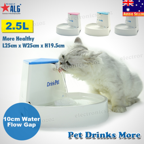 Automatic Electric Pet Water Fountain Dog/Cat Drinking Bowl Waterfall  Drinkwell 7