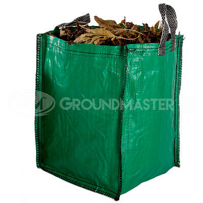 GroundMaster 120L Garden Waste Bags - Heavy Duty Large Refuse Sacks with Handles 3
