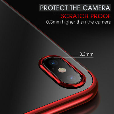 iPhone X XS MAX XR 8 7 Case Shockproof Soft Bumper Tough Gel Clear Cover Apple 4