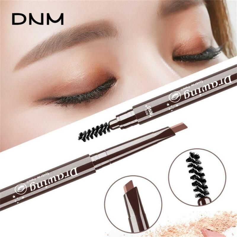 5 Color Double Ended Eyebrow Pencil Waterproof Long Lasting Triangle Rotatable 3