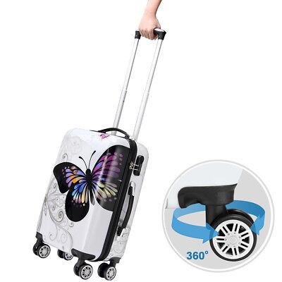 Monzana® Hartschalenkoffer Butterfly Trolley Reisekoffer Koffer M L XL 4 Rollen 4