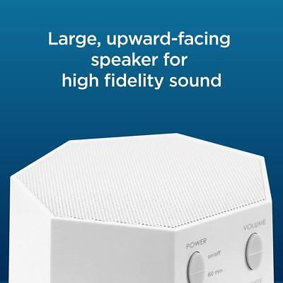 LectroFan - White Noise and Fan Sound Machine - with UK/US/EU Plugs - BLACK