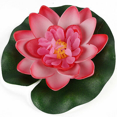 Artificial Water lily Floating Flower Lotus Home Yard Pond Fish Tank Decor 10cm