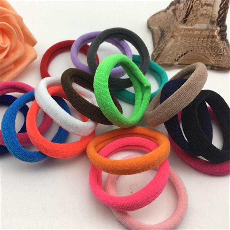 50Pcs Women Girls Hair Band Ties Rope Ring Elastic Hairband Ponytail Holder New 11