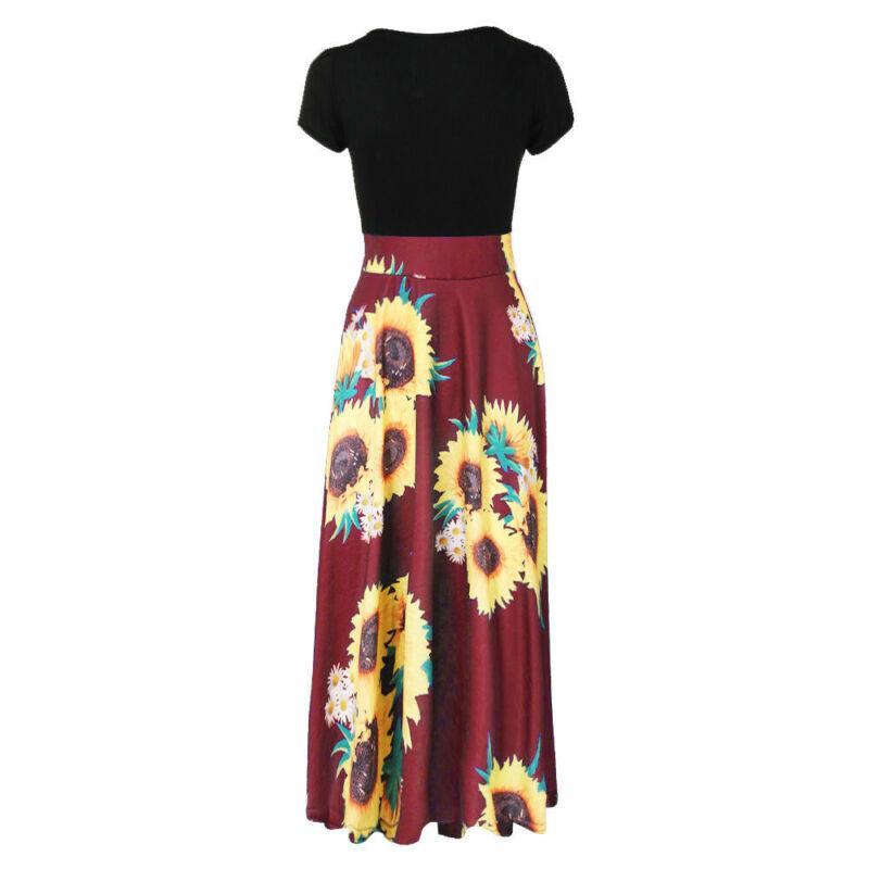 Women Summer Boho Long Maxi Dress Evening Cocktail Party Beach Dresses Sundress 8