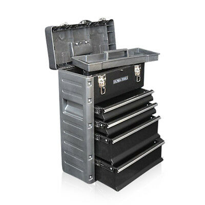 320 US PRO Tools Black Mobile Roller Chest Trolley Cart Storage cabinet Tool Box 10