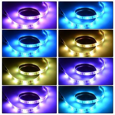 5V 1M-5M Usb Power Led Strip Lights Tv Back Rgb Colour Changing + Remote Control 3
