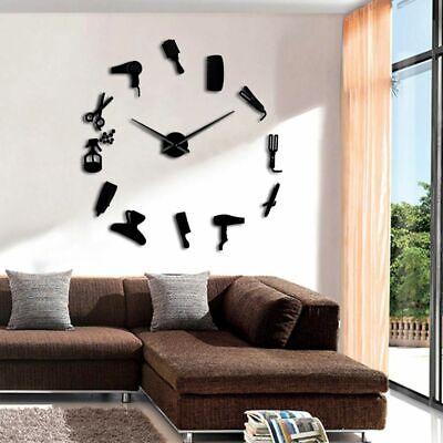 Hair Salon Big Time Clock Wall Fashion Hairdresser Decor Defined Barber Shop 4