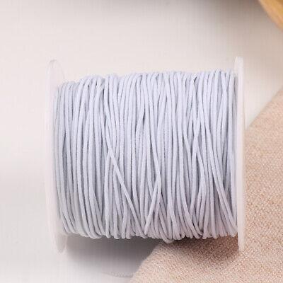 100M Rond Cordon Élastique Bande Couture Blanc pour Coudre Artisanat DIY 9