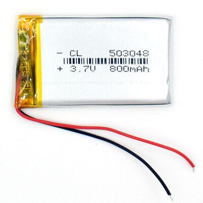 10Pcs 503048 3.7V 800 mAh Battery Rechargeable Li-Polymer LiPo for GPS Bluetooth 2