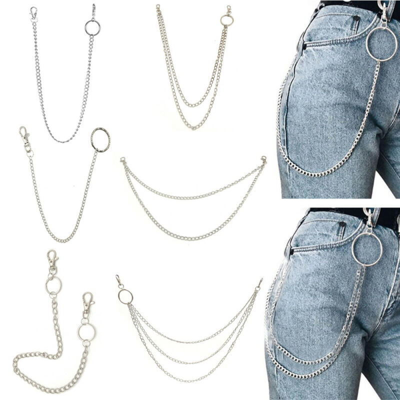 10 Styles Street Big Ring Key Chain Rock Punk Trousers Hipster Pant HipHop Sale