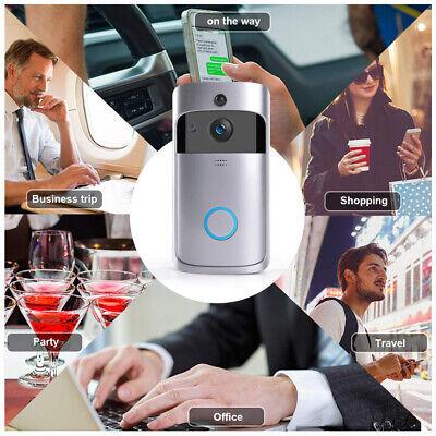 Wireless Smart WiFi DoorBell IR Video Visual Camera Intercom Home Security Kit 2