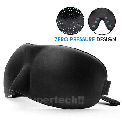 4x Travel Sleep Eye Mask Soft Memory Foam Padded Shade Cover Sleeping Blindfold 7