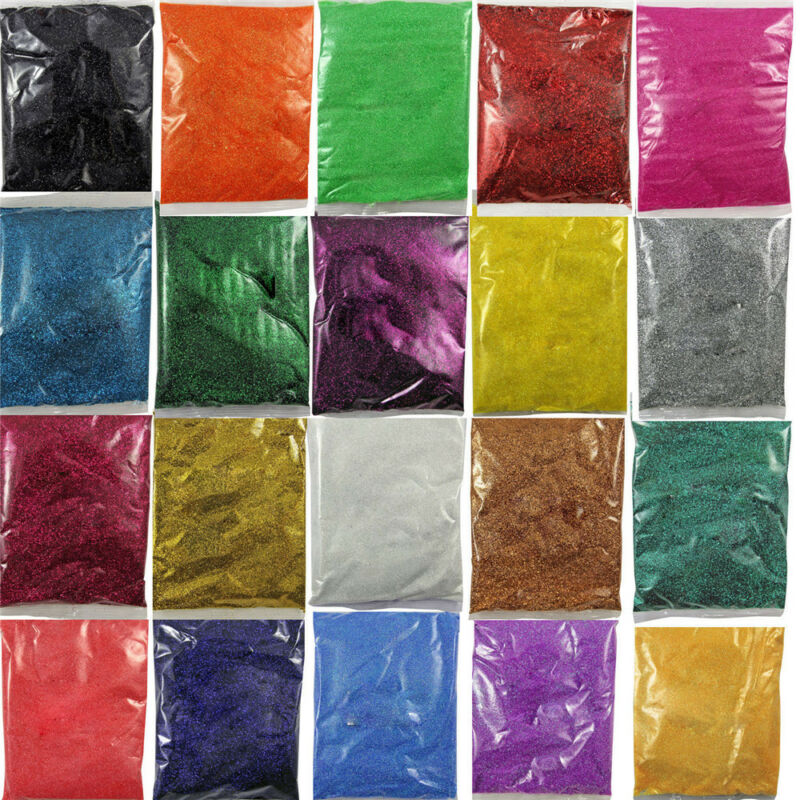100g Shine Rainbow Color Nail Glitter Powder Dust For DIY Crafts Nails Floristry 3