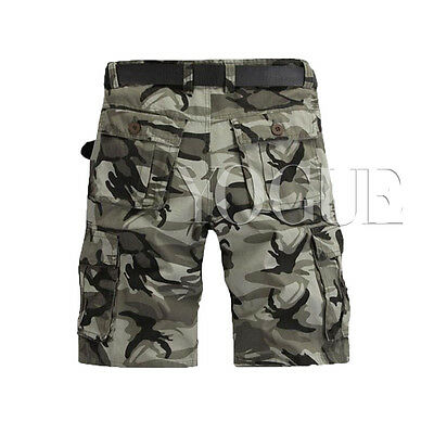 9d4563086f ... Military Mens CAMO CARGO SHORTS Camouflage BERMUDA Work Army Loose  Baggy Pants 5
