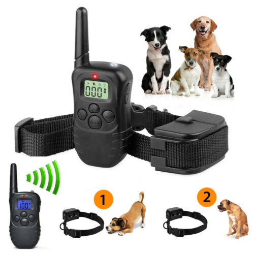 300M Electric Anti-Bark Shock Collar Dog Training Remote Control Anti-Barking 2
