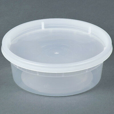 Microwavable Translucent Plastic Deli Container With Lid 250 Cs