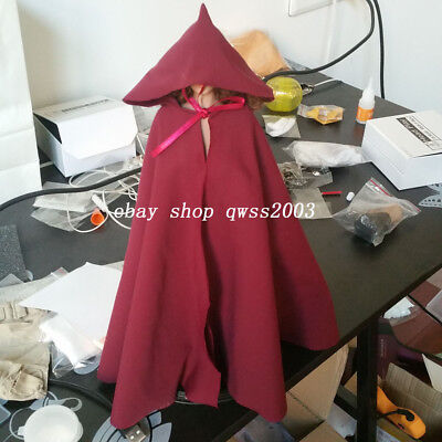 "1:6 Scale Black Soldier CLoak Hooded Cape For 12/"" PH HT Female Male Body Doll"