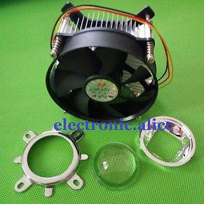 50w 100w high power led heatsink DC 12V 1.2A led cooling fan +44mm lens kit 3