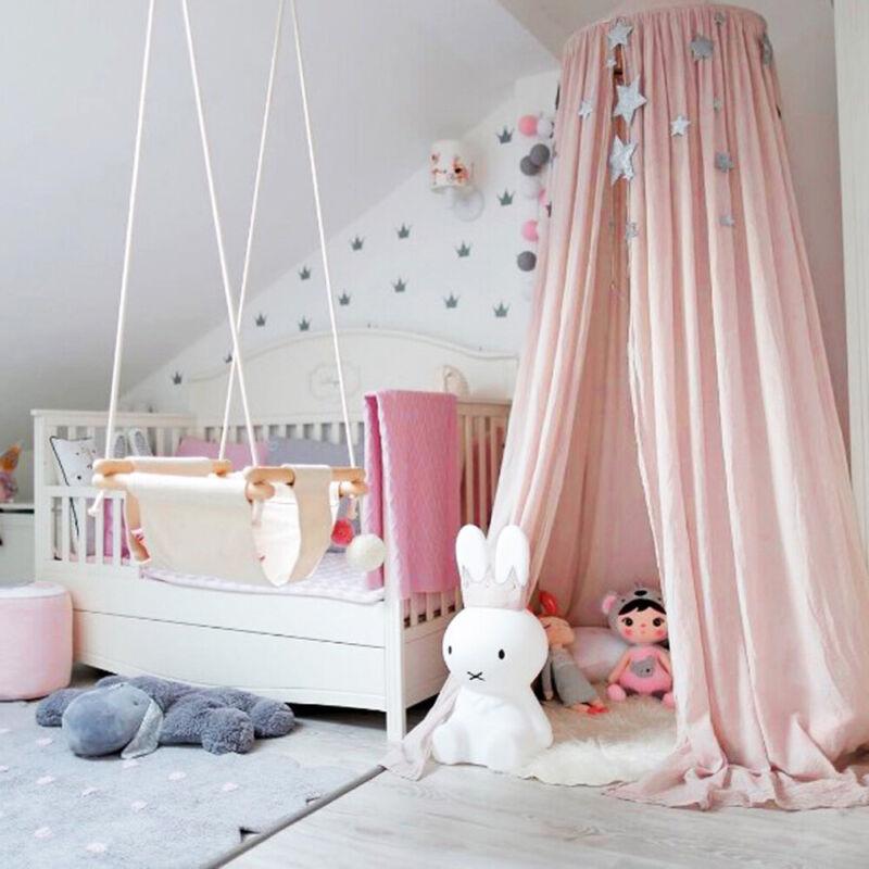 Kinder Baumwolle Betthimmel Baldachin Moskitonetz Rundum Nestchen Schlafzimmer D