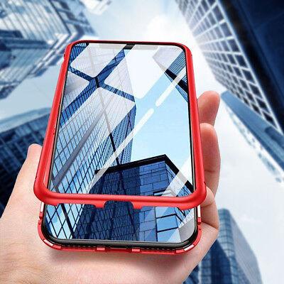 Coque Protection Magnétique Arrière Verre Trempé iPhone 6 6S 7 Plus 8 XR X S MAX 8