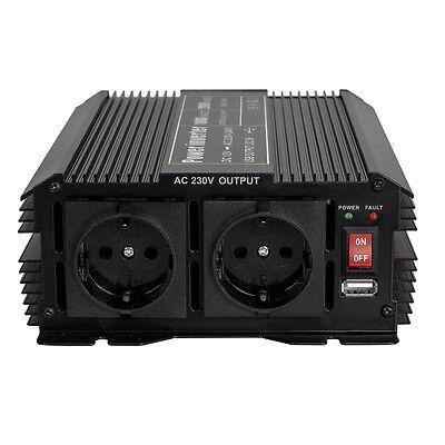 Spannungswandler Inverter 12V auf 230V 1000 2000 W Watt Wechselrichter KFZ PKW 3