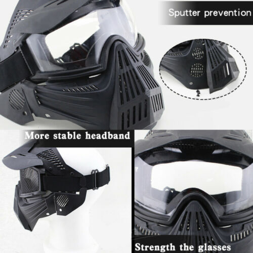 Full Face Protective Safety with Goggles Mask Tactical CS Game Paintball Airsoft 10