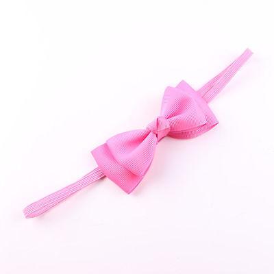 Baby Bow Satin Ribbon Elastic Headband Hair Accessories For Toddler Baby Girl Uk 3