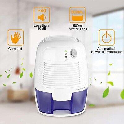 Portable 500ML Dehumidifier for Bathrooms Basement Moisture Air Dry Water Tank 6