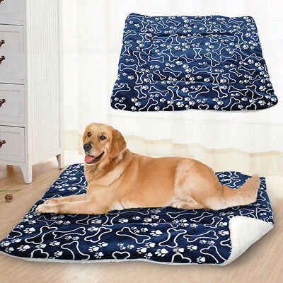 UK Pet Washable Home Blanket Cat Dog Bed Cushion Mattress Kennel Soft Crate Mat 5
