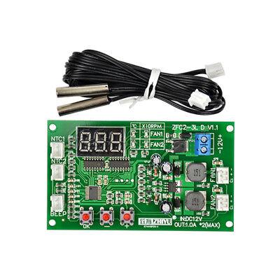 12V Dual Ways / PWM PC CPU Fan Digital Temperature Control Speed Controller UK 6