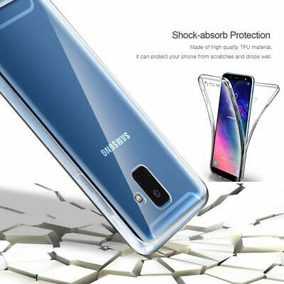 Samsung Galaxy S9 S10 Plus S8 360°Shockproof Full Soft Clear Silicone Case Cover 6