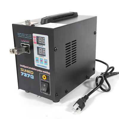 110V  Hand Held SUNKKO 737G Battery Spot Welder with Pulse & Current Display USA 5