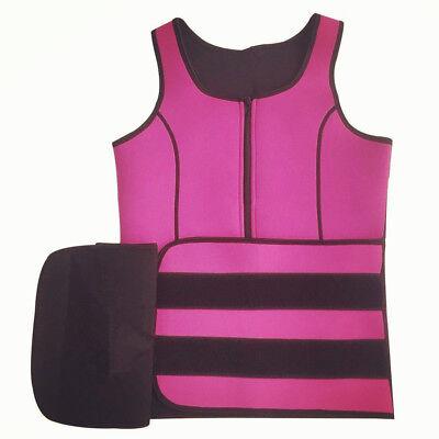 Women Sauna Thermo Shaper Sweat Waist Trainer Belt Slimming Vest Neoprene Corset 5
