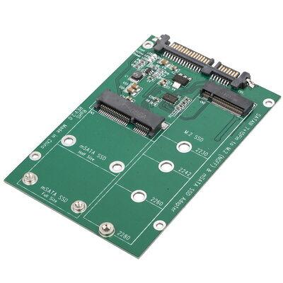 mSATA / M2 NGFF SSD to SATA Converter Adapter Combo Card M.2 2 In 1 2