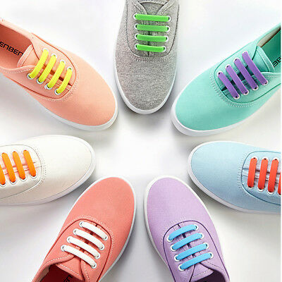 Easy Lazy No Tie Elastic Silicone Shoe Laces Cool Guy Shoelaces Unisex 8