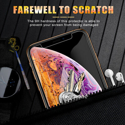 2x Nuglas Tempered Glass Screen Protector For iPhone XS Max X 8 7 6 6S Plus 7