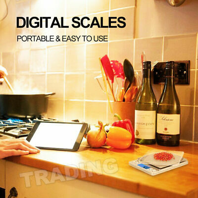 0.01-500g Kitchen Food Scale Digital LCD Electronic Balance Weight Postal Scales 12