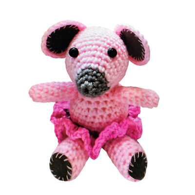 2 Stück DIY Mini Häkelset Bastelset Häkeltier Maus Elefant Häkeln 10 cm