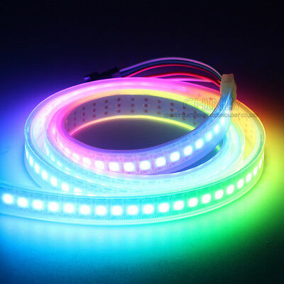 WS2812B Strip LED Lights 5050 RGB 30/60/144 LED/M IC Individual Addressable DC5V 4