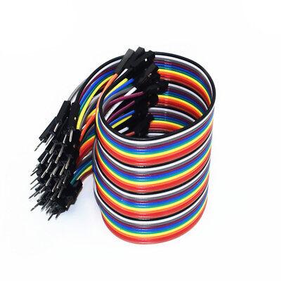40pc 10-30cm Dupont Jumper Wire Ribbon GPIO Cable Arduino Breadboard F-F/M-M/F-M 4