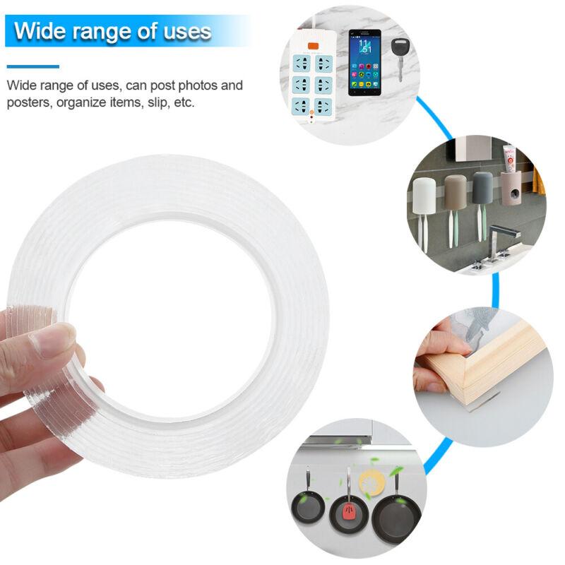Ruban Adhésif 2 Face Multifonctionnel Ruban Amovible Lavable Sans Traceur G 5