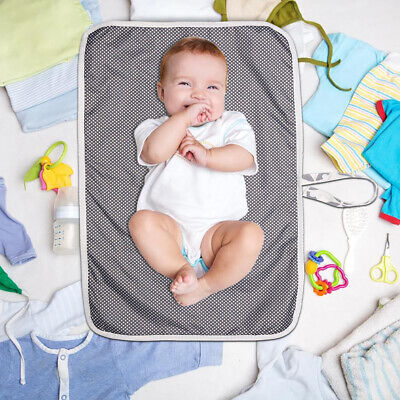 Portable Foldable Washable Baby Waterproof Travel Nappy Diaper Changing Mat Pad 3